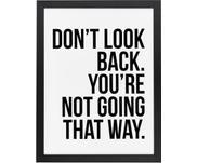 Impression numérique encadrée Don't Look Back