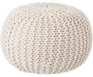 Pouf en tricot main Dori
