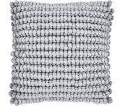 Housse de coussin douce 45x45 gris clair Iona