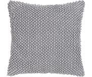 Housse de coussin douce 45x45 gris clair Indi