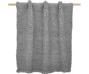 Plaid grosse maille gris clair Adyna
