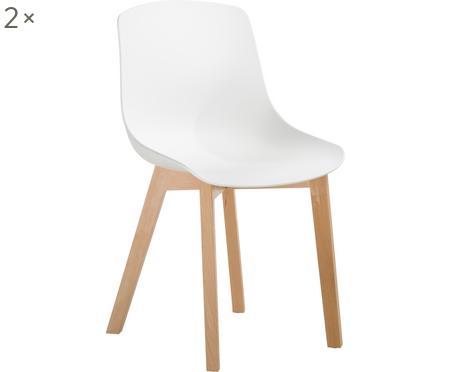 Chaise scandinave plastique Dave, 2pièces