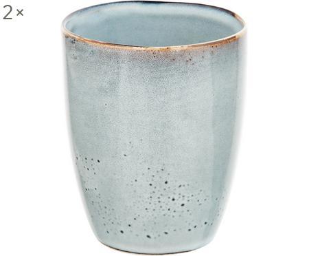 Tasse rustique en grès faite main Thalia, 2pièces