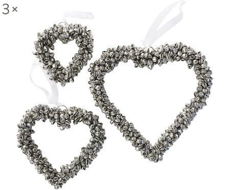 Décoration cœur à suspendre cœur Halina, 3élém.