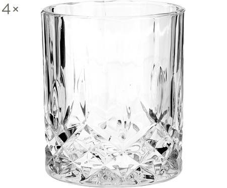 Verre en cristal avec relief George, 4pièces