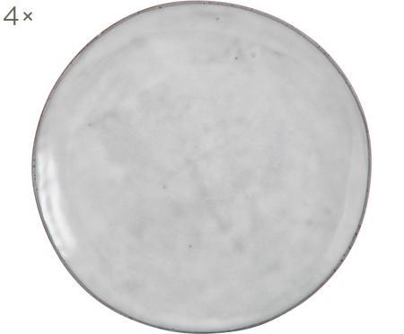 Assiette plate faite à la main Nordic Sand, 4pièces