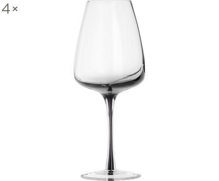 Verre à vin blanc soufflé bouche Smoke, 4pièces