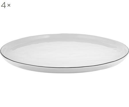Assiettes plates faites à la main Salt, 4pièces