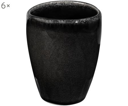 Mug fait main Nordic Coal, 6pièces
