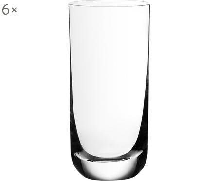 Verre à long drink en cristal Harmony, 6pièces
