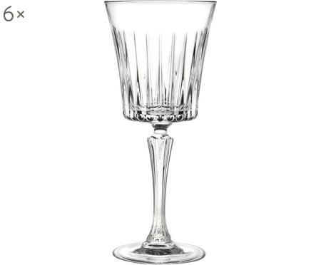 Verre à vin blanc cristal à surface rainuréeTimeless, 6pièces