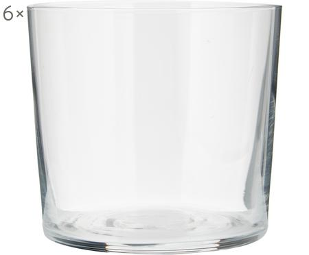 Verre à eau en verre fin Gio, 6pièces