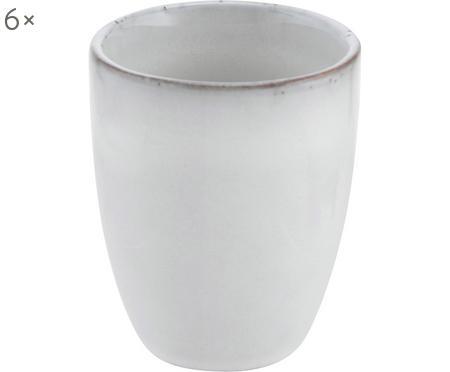 Tasses à espresso faites à la main Nordic sable, 6pièces
