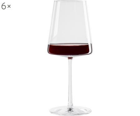 Verres à vin rouge en cristal Power, 6 pièces