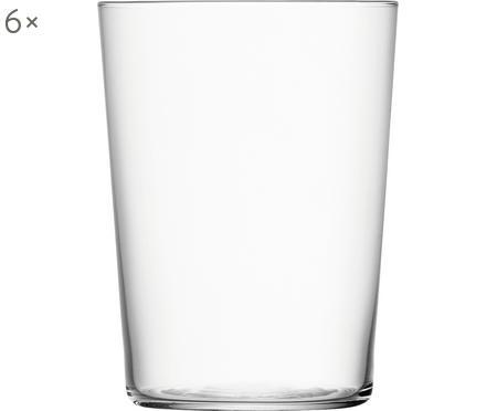 Verres à eau en verre fin Gio, 6pièces