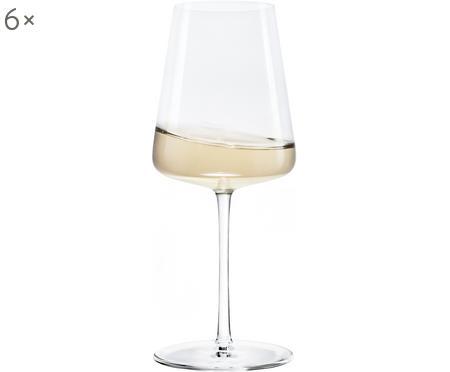 Verres à vin blanc en cristal Power, 6pièces