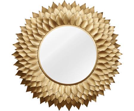 Miroir mural rond doré Petal