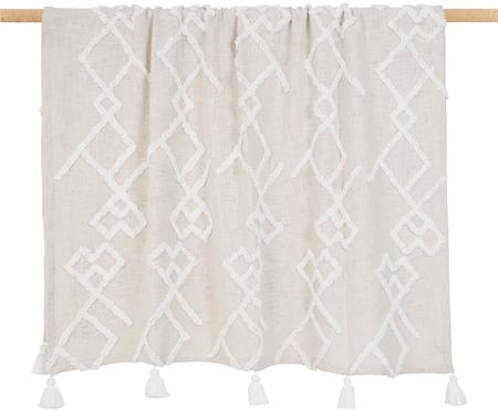 Plaid coton à décoration tuftée Tikki