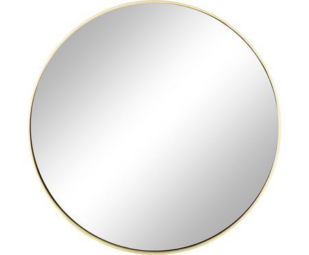 Miroir mural rond avec cadre doré Ada