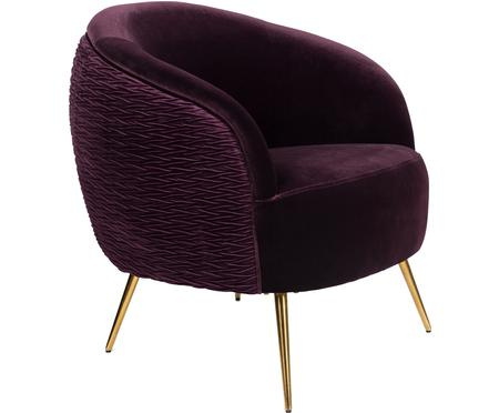 Fauteuil cocktail en velours lilas So Curvy