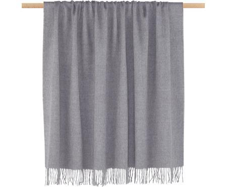Plaid en laine vierge gris clair Luxury