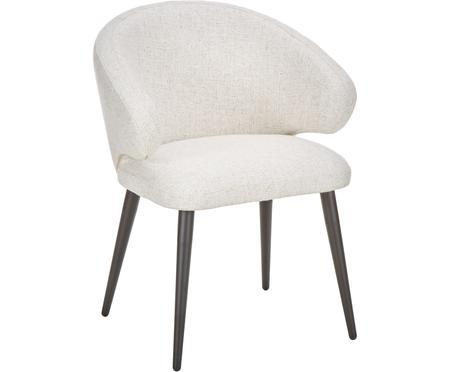Chaise design moderne tissu bouclé Celia