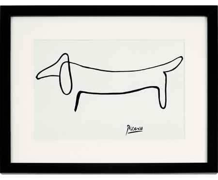 Impression numérique encadrée Picasso's Dackel