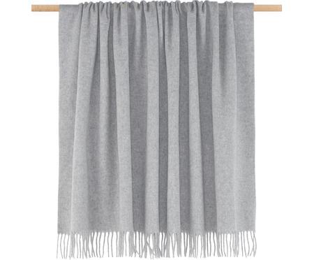 Plaid en laine vierge gris Lena
