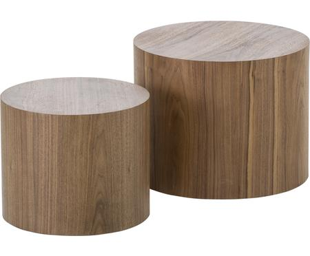 Tables d'appoint en bois Dan, 2élém.