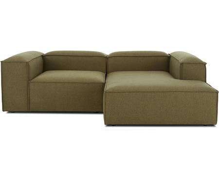 Canapé d'angle modulable vert Lennon