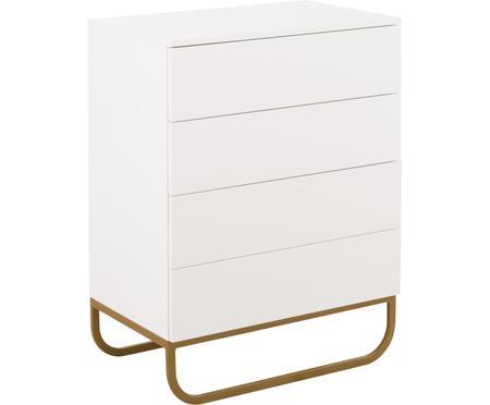 Commode blanche avec tiroirs Sanford