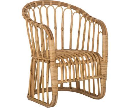 Chaise à accoudoirs en rotin Palma