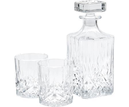 Carafe et verres à whisky George, 3élém.