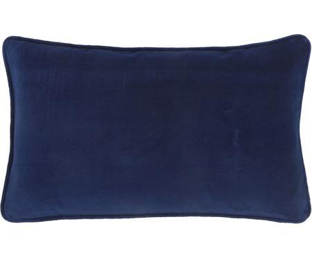 Housse de coussin rectangulaire en velours bleu marine Dana