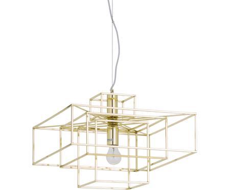 Suspension en métal doré Cube