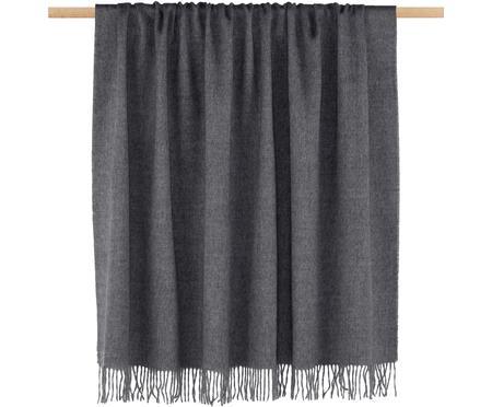 Plaid en laine vierge gris Luxury