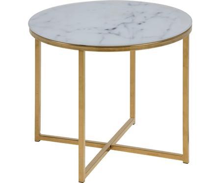 Table d'appoint en verre marbré Aruba