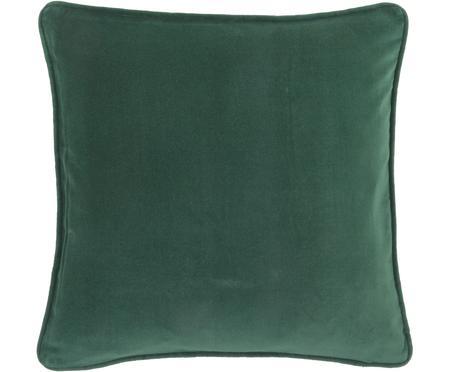 Housse de coussin en velours vert émeraude Dana