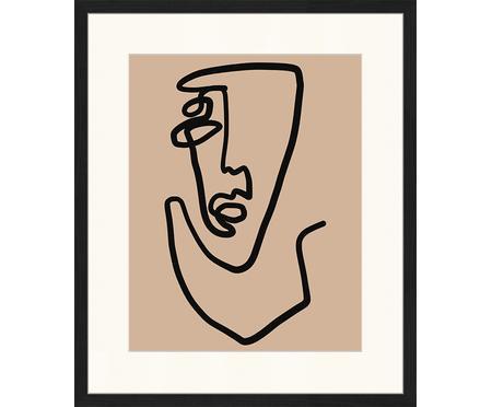 Impression numérique encadrée Abstract Face