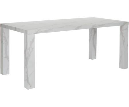 Table blanche aspect marbre Carl