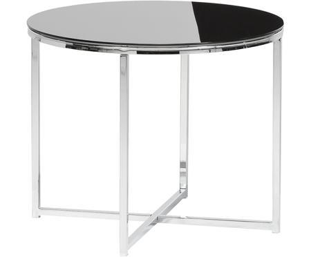 Table d'appoint avec plateau en verre noir Cross