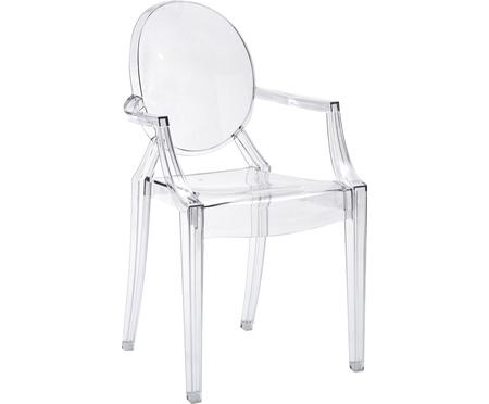 Chaise transparente en plastique Louis Ghost