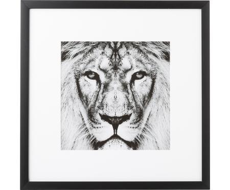 Impression numérique encadrée Lion Close Up