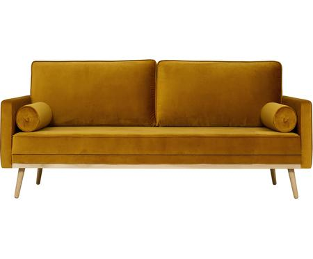 Canapé 3places velours jaune moutarde Saint