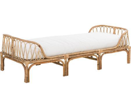 Lit de repos en bambou avec assise rembourrée Blond
