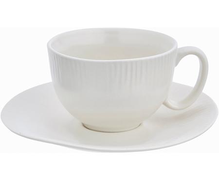 Tasse à thé en porcelaine avec sous-tasse, faite main Sandvig