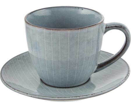 Tasse avec sous-tasse faites à la main Nordic Sea