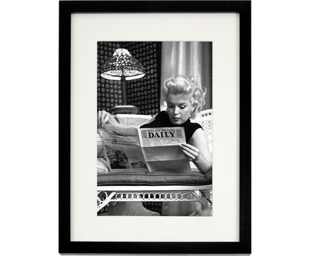 Impression numérique encadrée Marilyn Monroe Reading