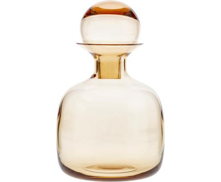 Carafe couleur ambre/transparent faite main Colored