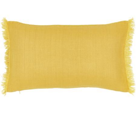 Housse de coussin pur lin jaune Luana